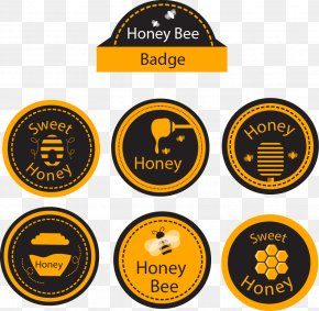 Hand-painted Icon Vector Honey - Honey Bee Honey Bee Euclidean Vector PNG