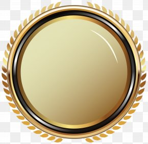 Gold Oval Badge Transparent Clip Art Image - Badge Clip Art PNG