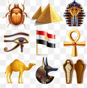 Mask Camel Pyramids Egyptian Pharaoh Mummy Beetle - Icon PNG