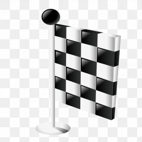 Black And White Checkered Flag - Stock Photography Black And White Royalty-free PNG