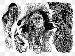 Design - Sleeve Tattoo Native Americans In The United States Idea PNG