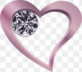 Purple Fresh Love Diamond Decoration Pattern - Heart Clip Art PNG