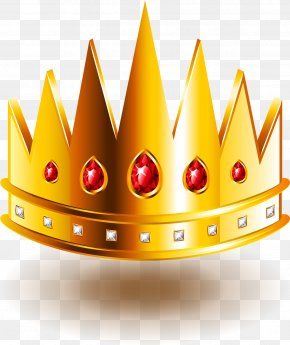 Red Diamonds Inlaid Crown PNG