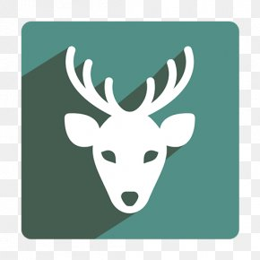 Deer Icon - Reindeer Santa Claus Moose Christmas Icon PNG