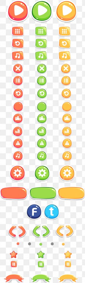 Game Ui - Two Dots User Interface Design Video Game PNG