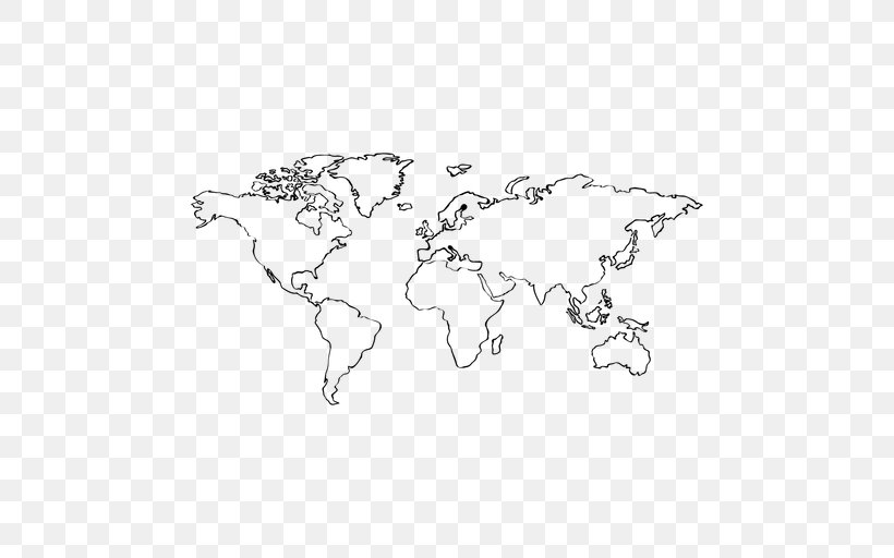World Map Coloring Book Geography, PNG, 512x512px, World Map ...