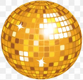 Yellow Disco Ball Clip Art Image - Disco Drawing Clip Art PNG