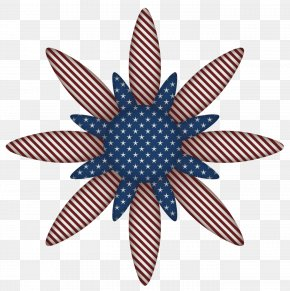 USA Flag Flower Decoration Clipart Picture - Flower Independence Day Clip Art PNG