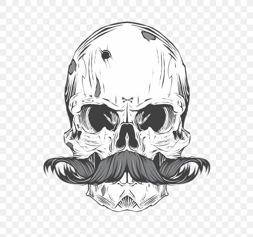 Skull Moustache Tattoo, PNG, 580x770px, Calavera, Art, Automotive Design, Barber, Beard Download Free