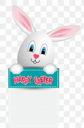 Happy Easter With Bunny Egg Clipart Image - Easter Bunny Clip Art PNG