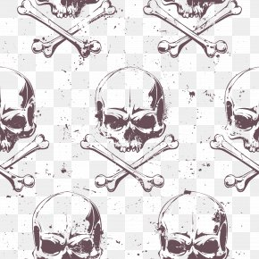 Pirate Flag Decorative Background Vector Material - Euclidean Vector Piracy Skull Illustration PNG