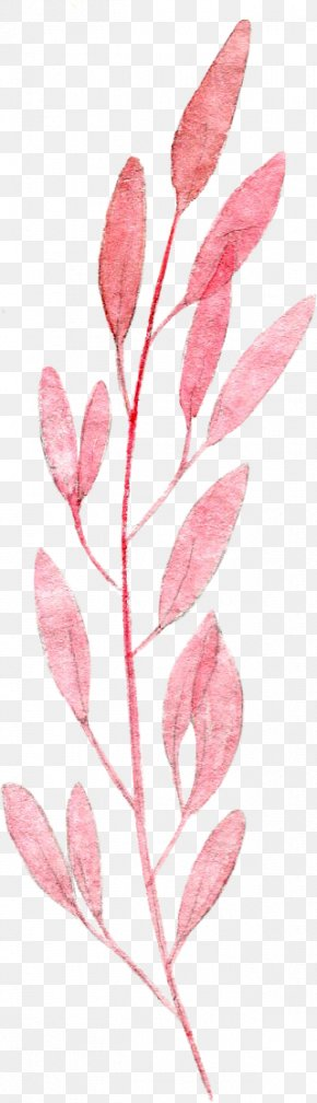 Watercolor Leaves - Watercolor Painting Leaf Pink Drawing PNG