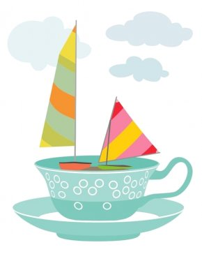 Retro Summer Etsy - Illustration Teacup Art Image PNG