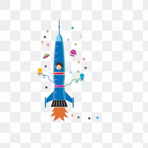 Rocket - Wall Decal Sticker Nursery Rocket PNG