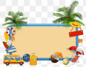 Vacation Background Cliparts - Summer Vacation Clip Art PNG