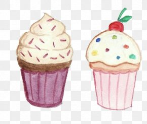 Color Ice Cream - Cupcake Birthday Cake Muffin Food PNG