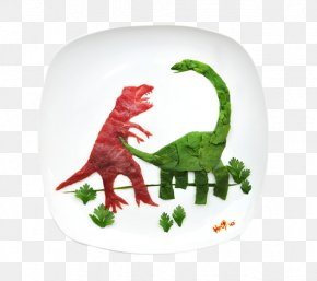 Food Composition Dinosaur - Food Work Of Art Artist Painting PNG