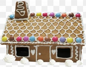 Beautiful Brown Cabin - Gingerbread House Chocolate Cake Christmas Cake Torte Hut PNG