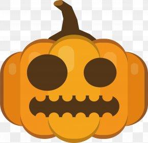 Pumpkin Head With Small Eyes - Jack-o'-lantern Pumpkin Calabaza Eye Clip Art PNG