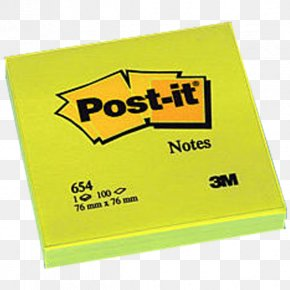Post It Note - Post-it Note Yellow 3M Geel Brand PNG
