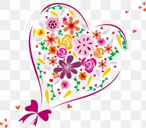 Love Heart-shaped Flowers Vector - Heart Euclidean Vector Clip Art PNG