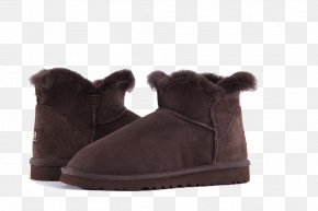 Brown Snow Boots - Snow Boot Shoe PNG