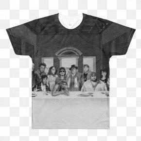 T-shirt - Printed T-shirt Crew Neck Hoodie PNG