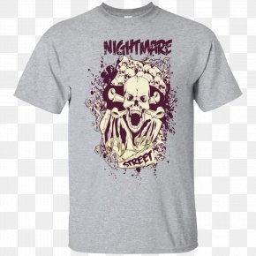 Skull T-shirt Printing - T-shirt Hoodie Gildan Activewear Sleeve PNG