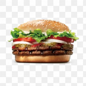 Fast Food Burger - Whopper Hamburger Cheeseburger Burger King Premium Burgers Fast Food PNG