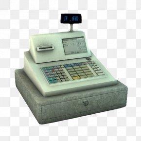 Stone Base Cash Register - Cash Register 3D Computer Graphics 3D Modeling Autodesk 3ds Max Wavefront .obj File PNG