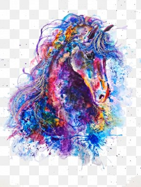 Horse - Work Of Art Drawing Watercolor Painting Illustrator PNG