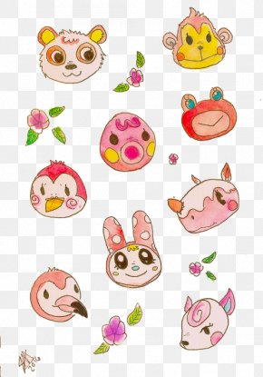 Watercolor Animal - Animal Crossing: New Leaf Animal Crossing: Pocket Camp Sticker Redbubble Clip Art PNG