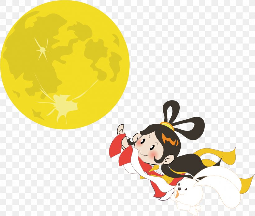 Mid-Autumn Festival Chang'e Hou Yi, PNG, 1288x1092px, Mid Autumn Festival, Cartoon, Chang E, Fictional Character, Happiness Download Free