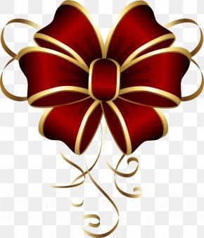 Red Gift Box Decoration - Santa Claus Christmas Jingle Bell Clip Art PNG