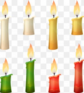 Vector Cartoon Candle - Flameless Candles Still Life Photography PNG