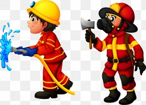 Firefighters Are Working - Firefighter Royalty-free Stock Photography Clip Art PNG