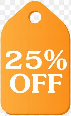 Orange Discount Tag Clip Art Image - Tag Clip Art PNG