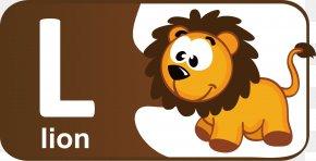 Cartoon Children The English Alphabet L - Lion English Alphabet Letter PNG