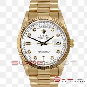Box Rolex - Rolex Day-Date Watch Colored Gold PNG