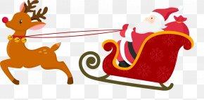 Santa Claus - Santa Claus's Reindeer Santa Claus's Reindeer Christmas Card PNG