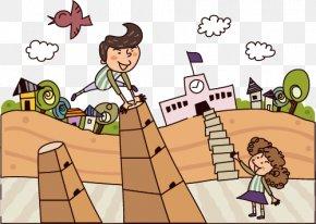 Exaggeration Of Men And Women - Stock Illustration Cartoon Illustration PNG