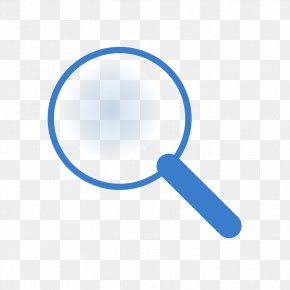 Blue Magnifying Glass - Magnifying Glass Computer File PNG