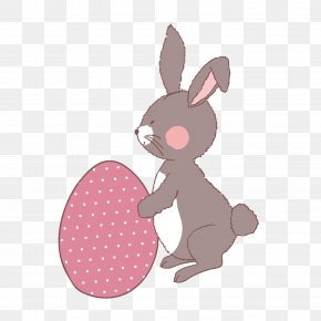 Hand Painted Illustration Of Easter Bunny - Easter Bunny European Rabbit Illustration PNG