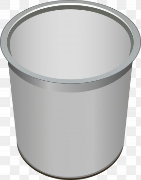 Stainless Steel Trash Can Vector - Waste Container PNG