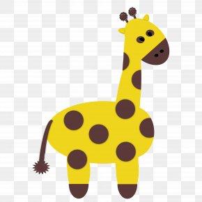 Giraffe - Cute Zoo Animals Giraffe Scrapbooking Clip Art PNG