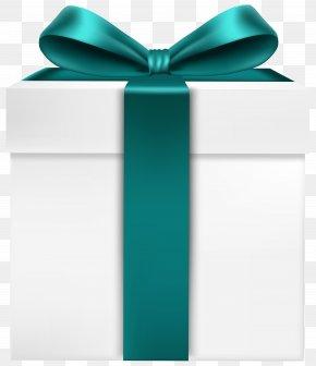White Gift Box - Present Clip Art PNG
