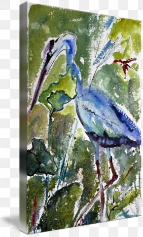 Ink Watercolor Painting - Watercolor Painting Gallery Wrap Acrylic Paint Canvas PNG