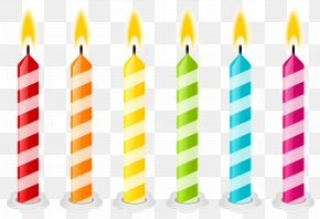 Birthday Candles Vector Clipart Image - Birthday Cake Candle Clip Art PNG