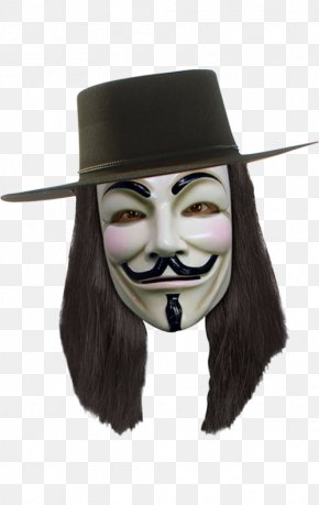 V For Vendetta - V For Vendetta Guy Fawkes Mask Costume PNG
