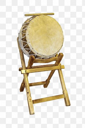 Traditional Drum And Drum Stand - Tom-tom Drum Hand Drum PNG
